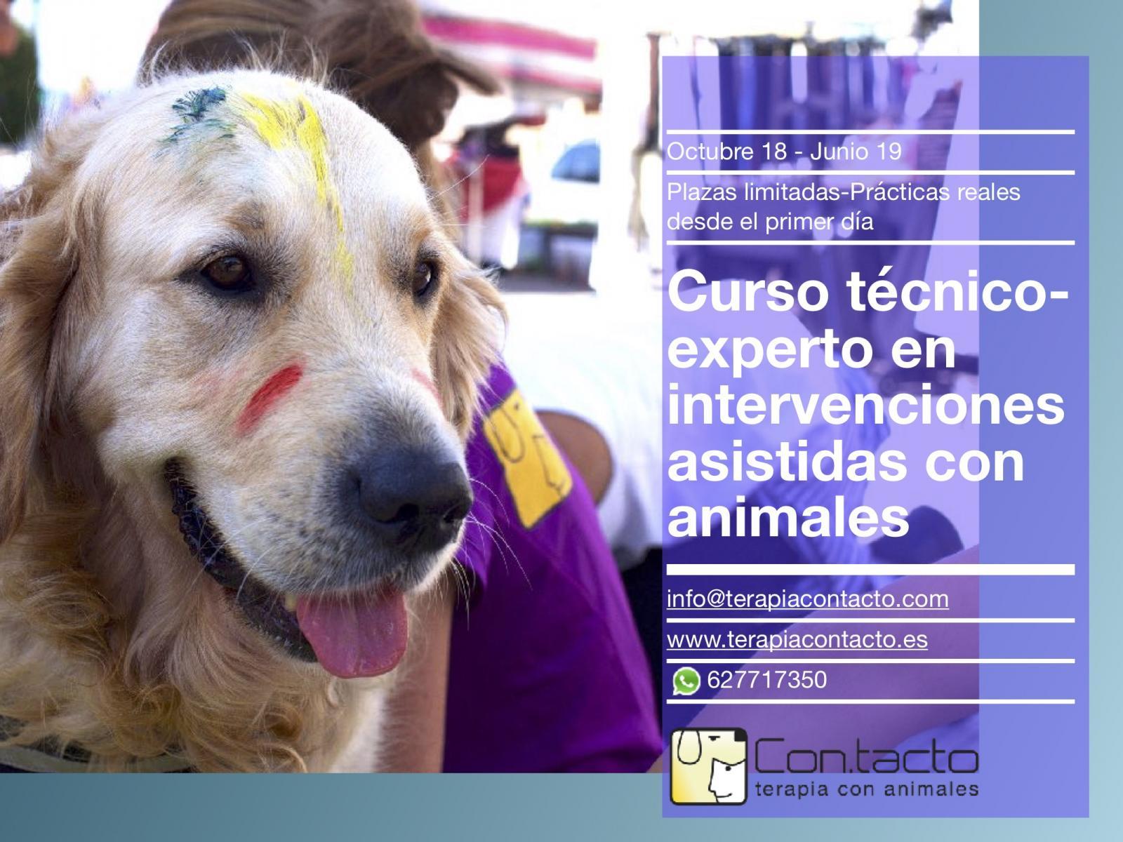 Nuevos cursos formación en intervenciones con animales 18/19